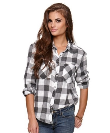 nollie womens oversized boyfriend flannel shirt glam york