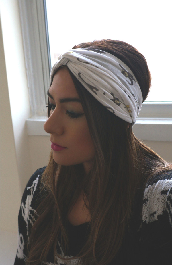 DIY No Sew Turban Headband