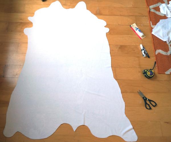 DIY Cow hide rug tutorial