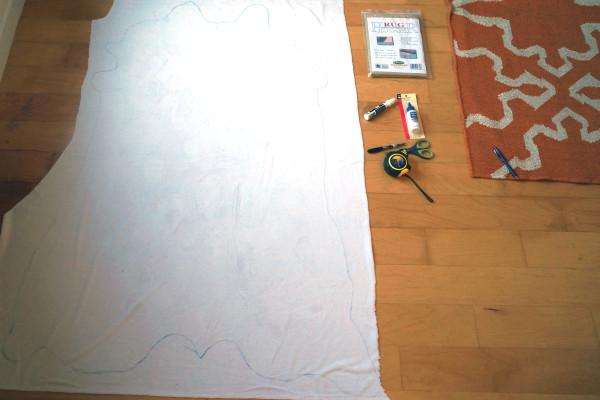 DIY Cowhide rug