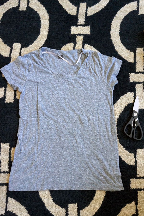 DIY Shredded T-Shirt