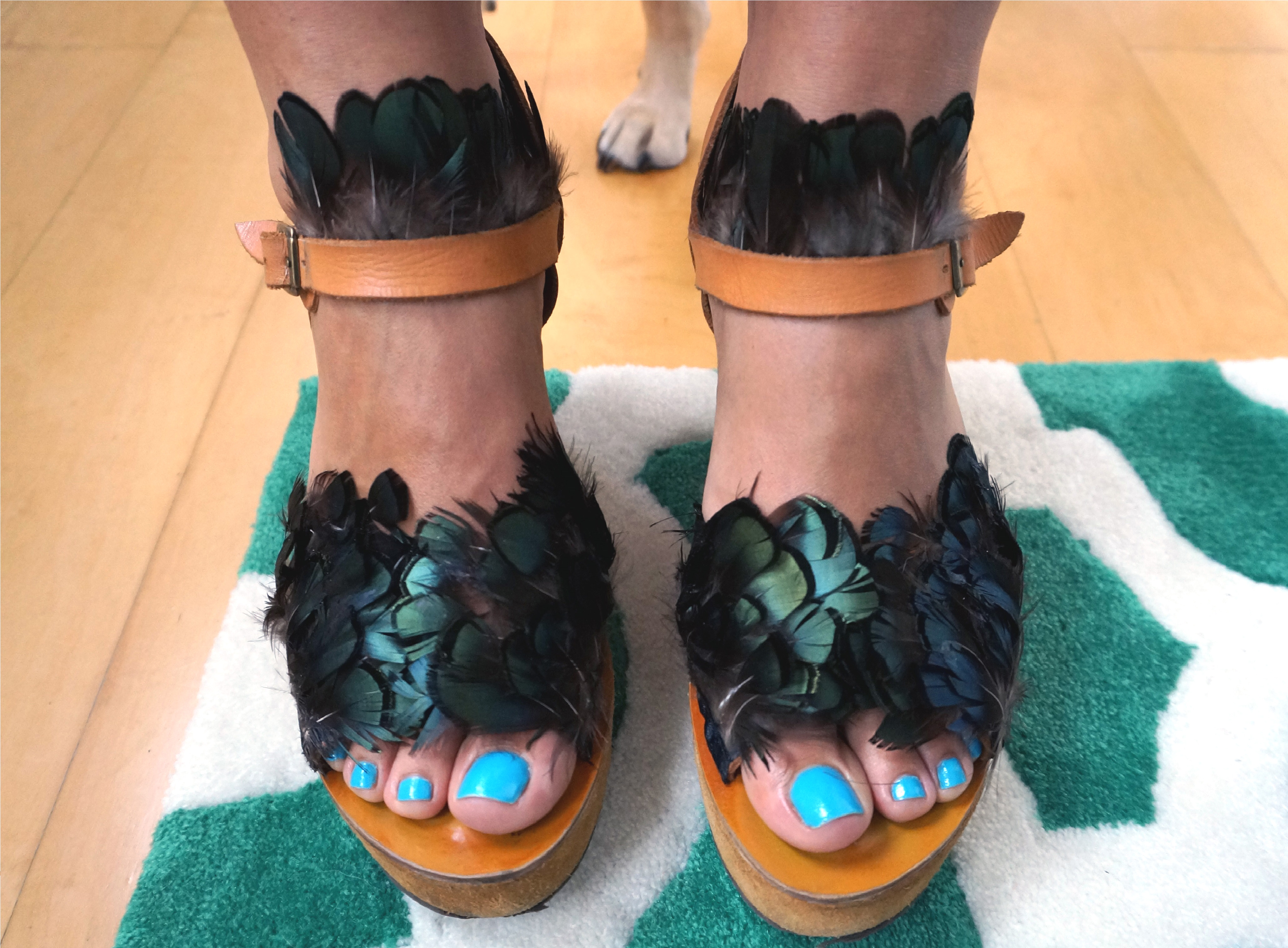 DIY Feather Sandals