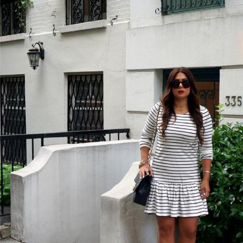 anthropologie-striped-peplum-dress