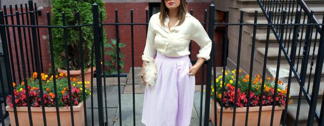 Lavender Midi Skirt