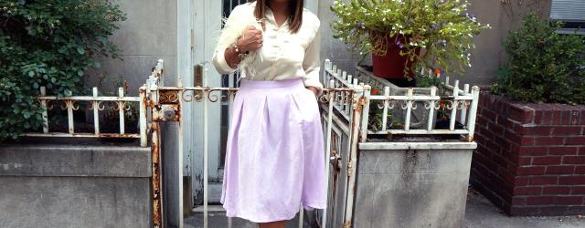 Vintage Chanel Silk Cream Blouse