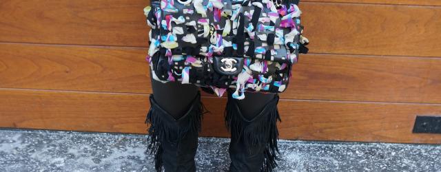 Chanel Laser Cut Lambskin Scarf Bag