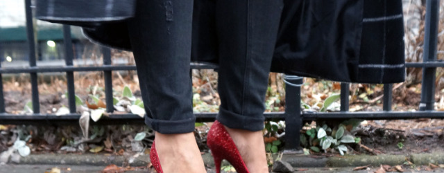 Kate Spade Licorice Pumps Red Glitter