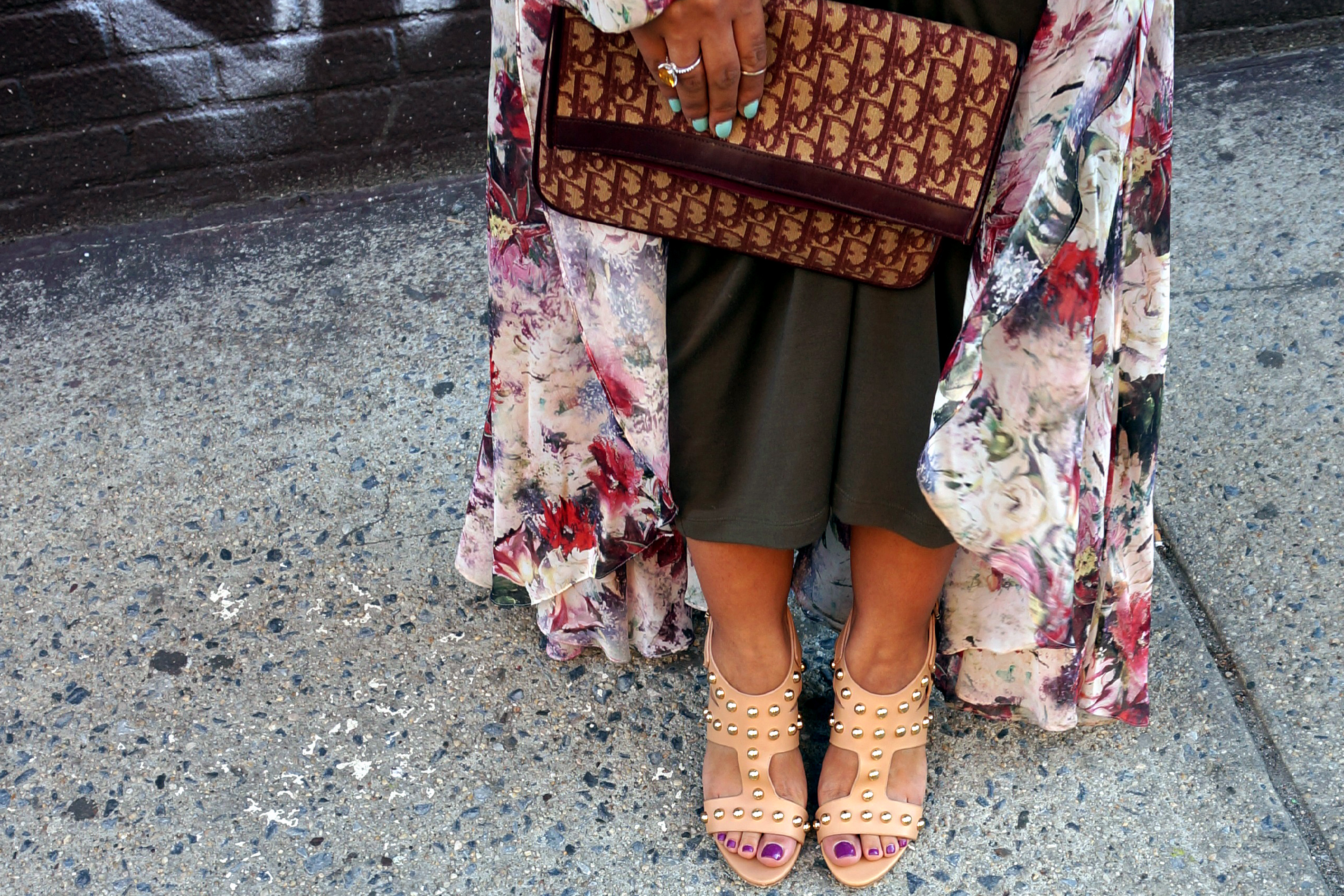 Isa Tapia Alona Studded Block Heel Sandals