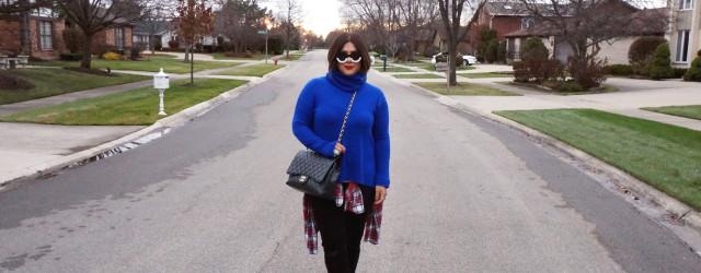 Diane Von Furstenberg Ahiga Turtleneck Sweater Cobalt
