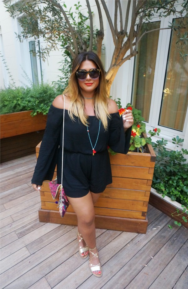 Tobi Keepin It Casual Romper Black
