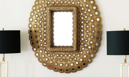 pottery barn peacock mirror