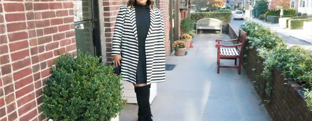 Asos Striped Coat