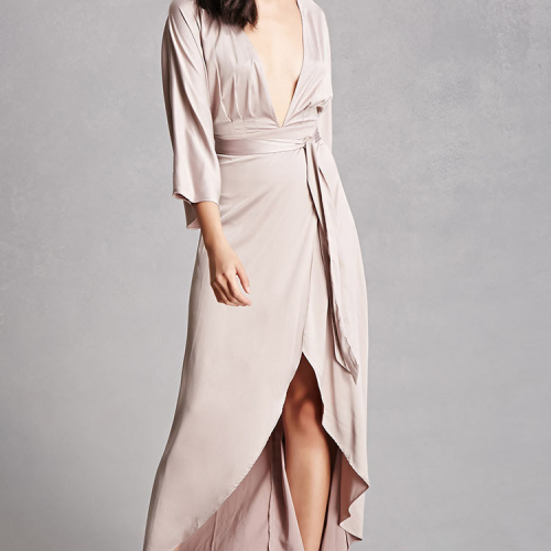 forever-21-satin-high-low-wrap-dress