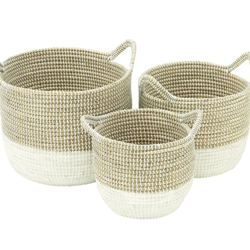 Deco 79 41145 Sea Grass Storage Baskets