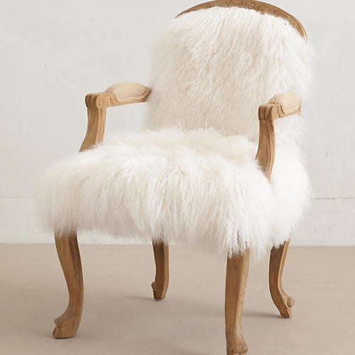 Luxe Fur Occasional Chair