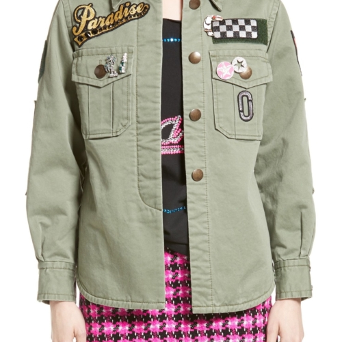 MARC JACOBS Cotton Sateen Military Jacket