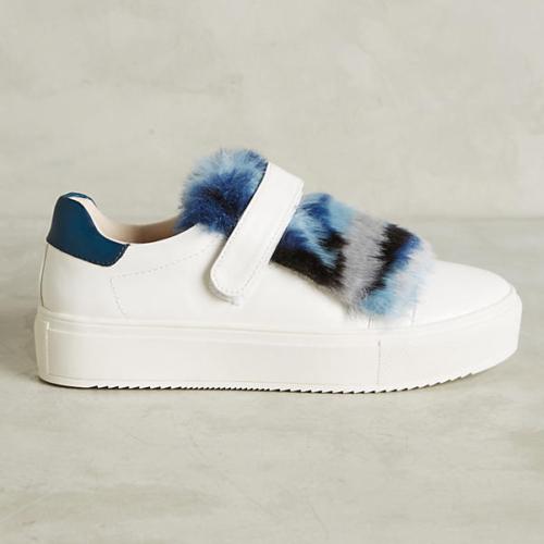 Vanessa Wu Faux-Fur Sneakers