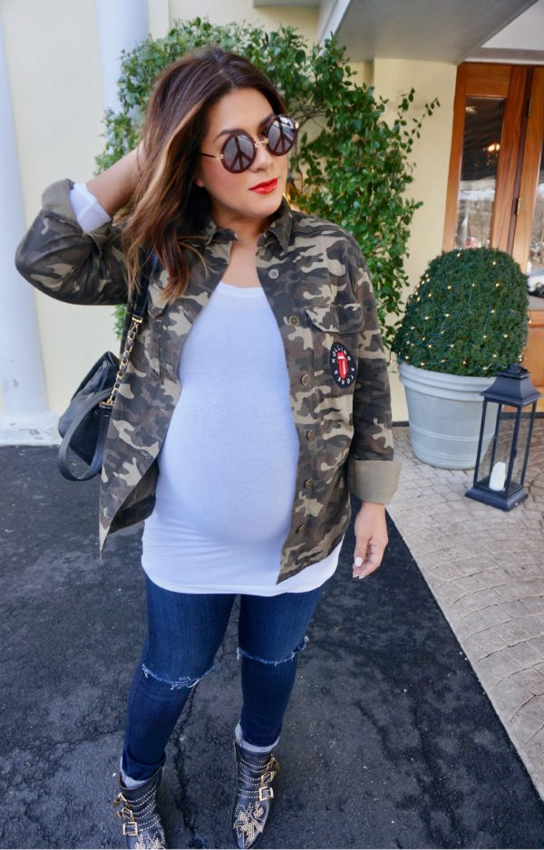 Forever 21 Rolling Stone Camo Jacket