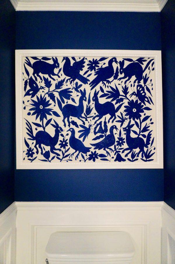 Framed Cobalt Otomi Art 2