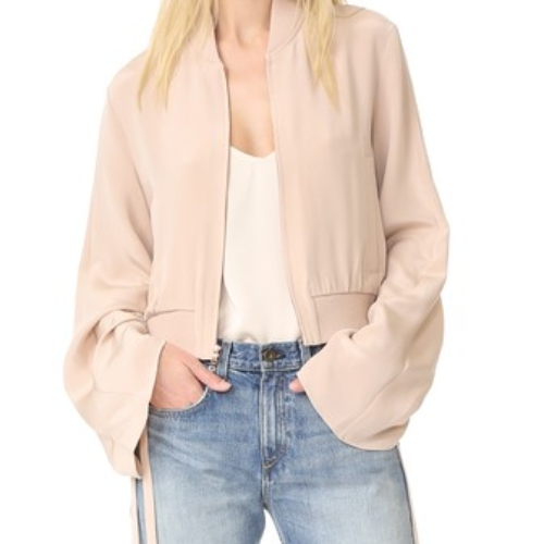 Tibi Sculpted Bomber Jacket