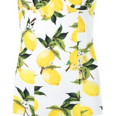 Dolce & Gabbana lemon print swimsuit