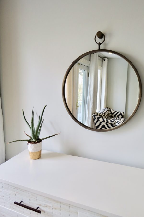 World Market Brass Metal Loop Mirror