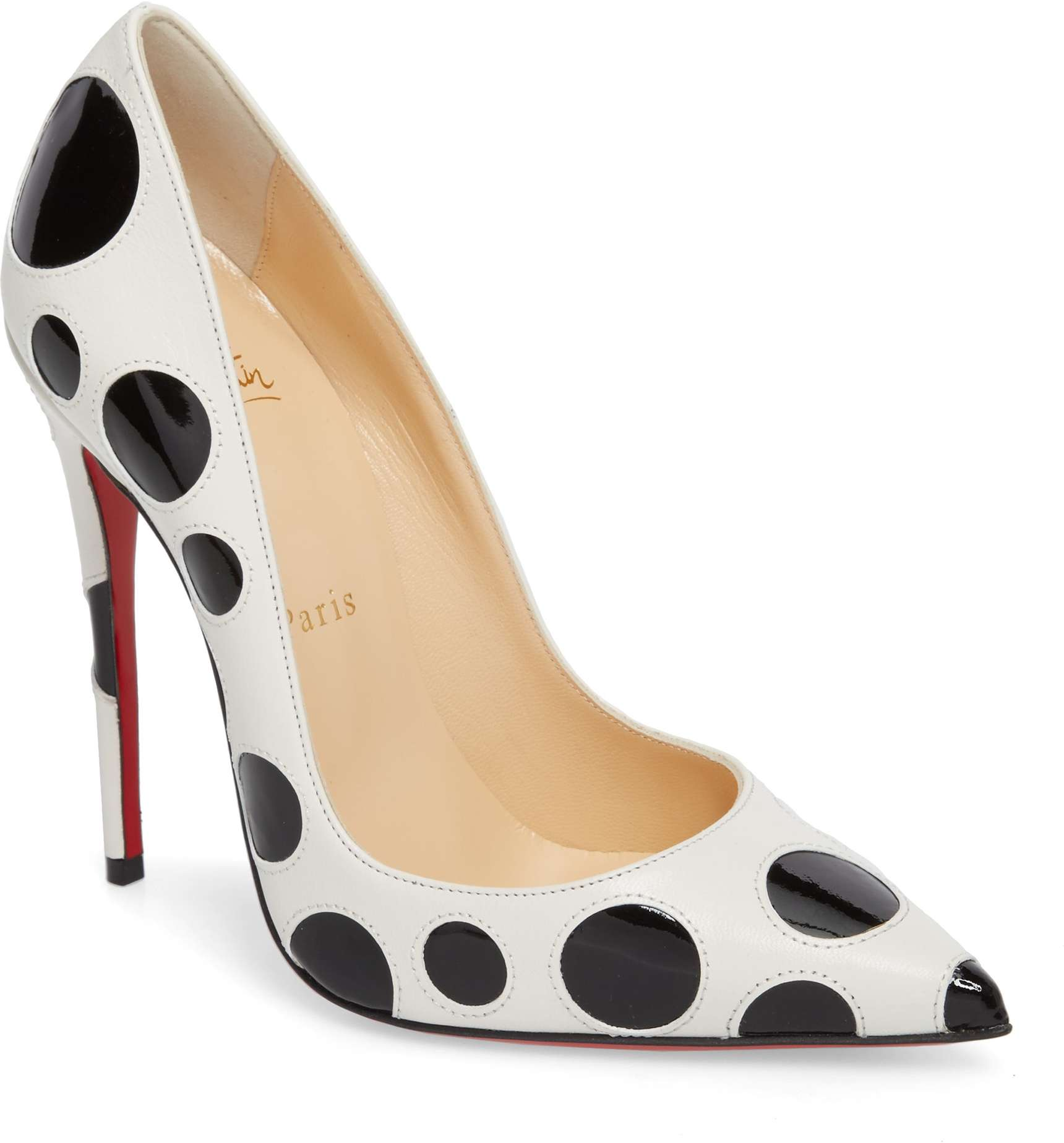 christian louboutin so kate polka dot pump