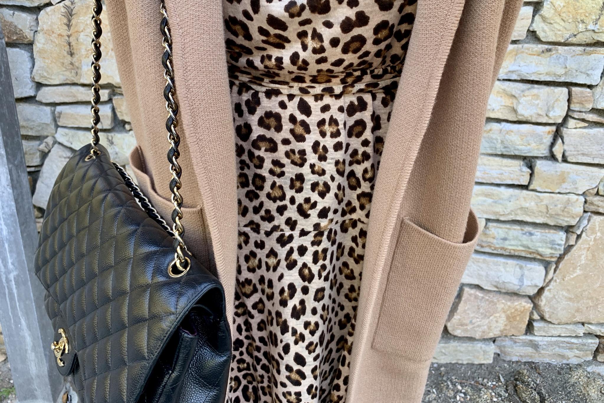 Rebecca Taylor Leopard Linen Bow-Front Dress