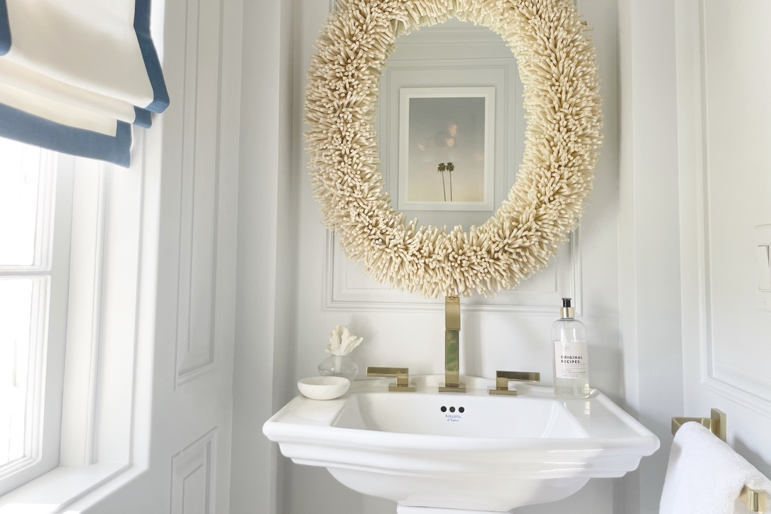 Bohemian Coastal Powder Room Before And After