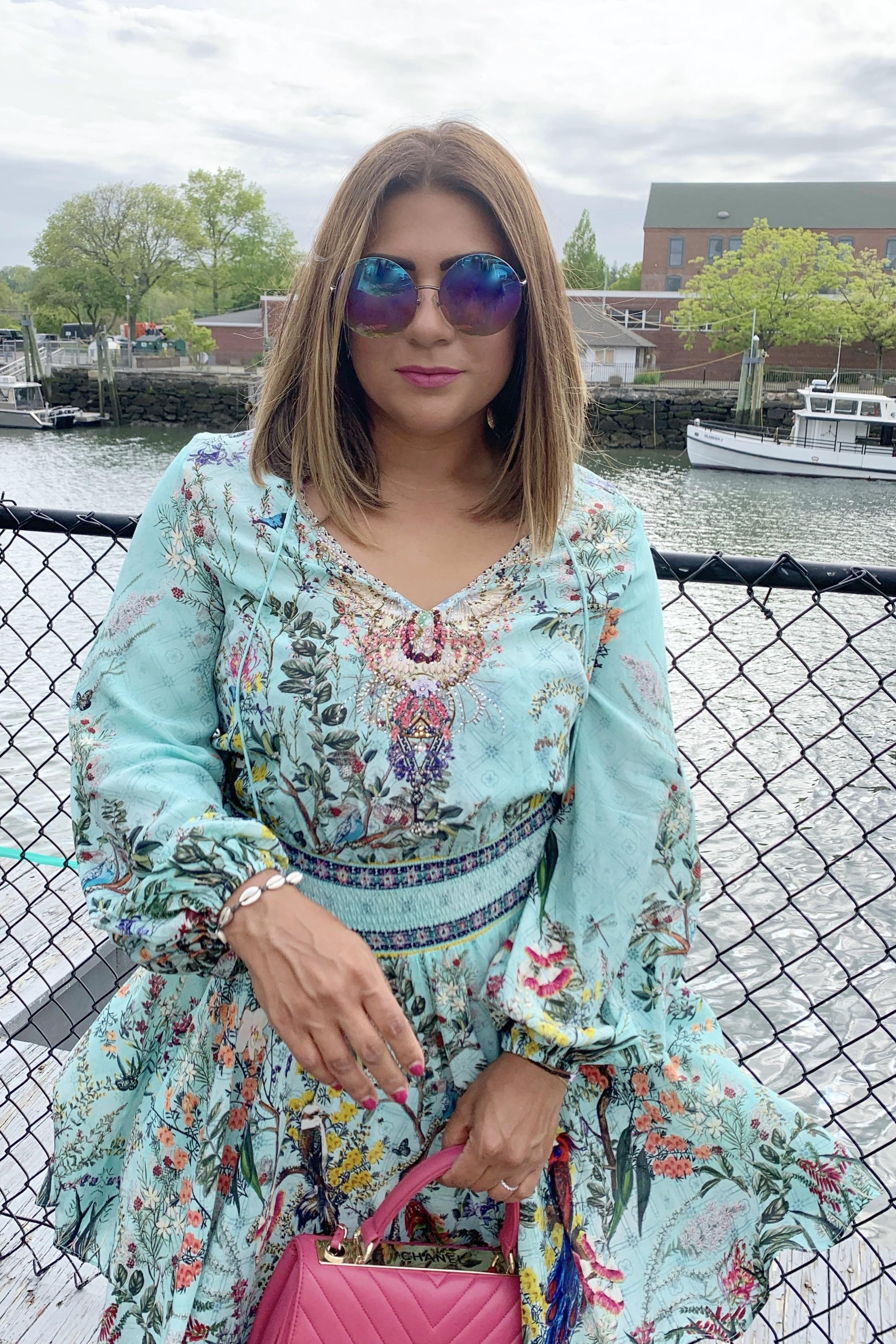 Camilla Shirred Waist Mini Dress